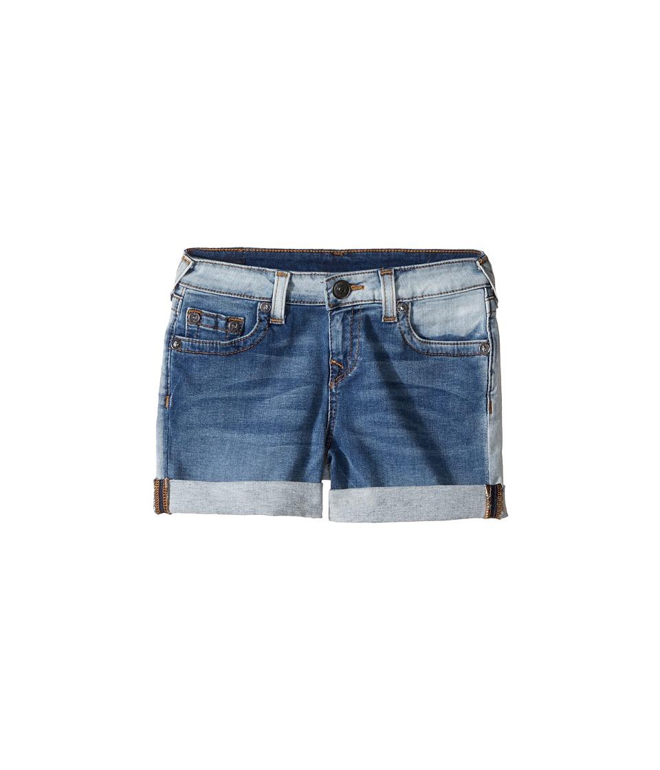 True Religion Kids - Audrey Boyfriend Shorts in Side Car Blue (Big Kids) (Side Car Blue) Girl's Shorts