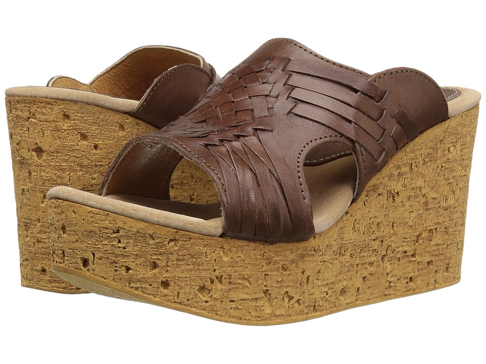 Sbicca - Manny (Brown) Women's Wedge Shoes