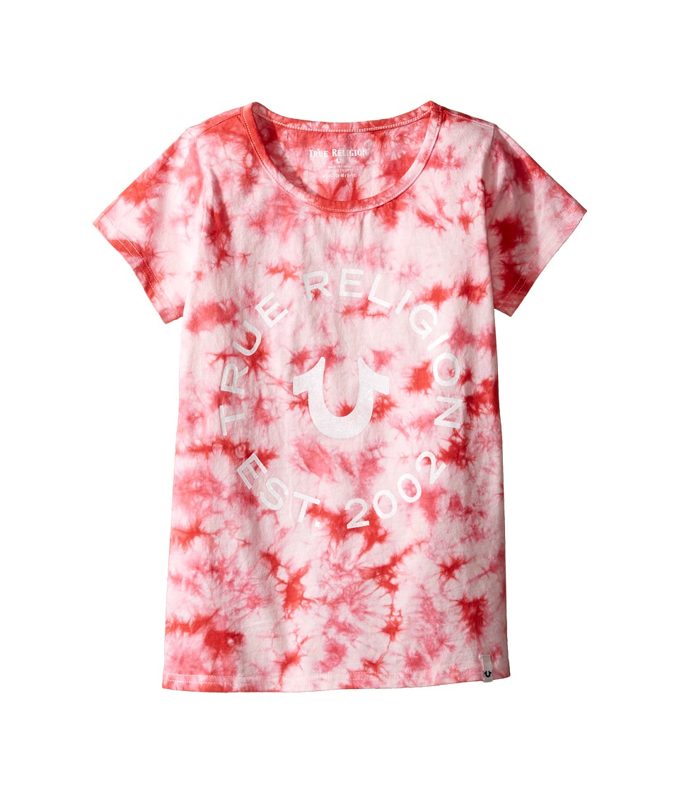 True Religion Kids - Tie-Dye Logo Tee (Big Kids) (Faded Red) Girl's T Shirt