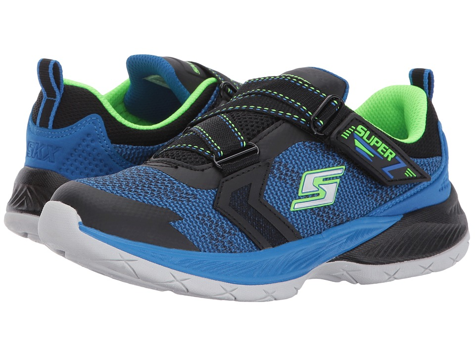 SKECHERS KIDS - Lunar Sonic Super Z Sneaker (Little Kid/Big Kid) (Black/Blue/Lime) Boy's Shoes
