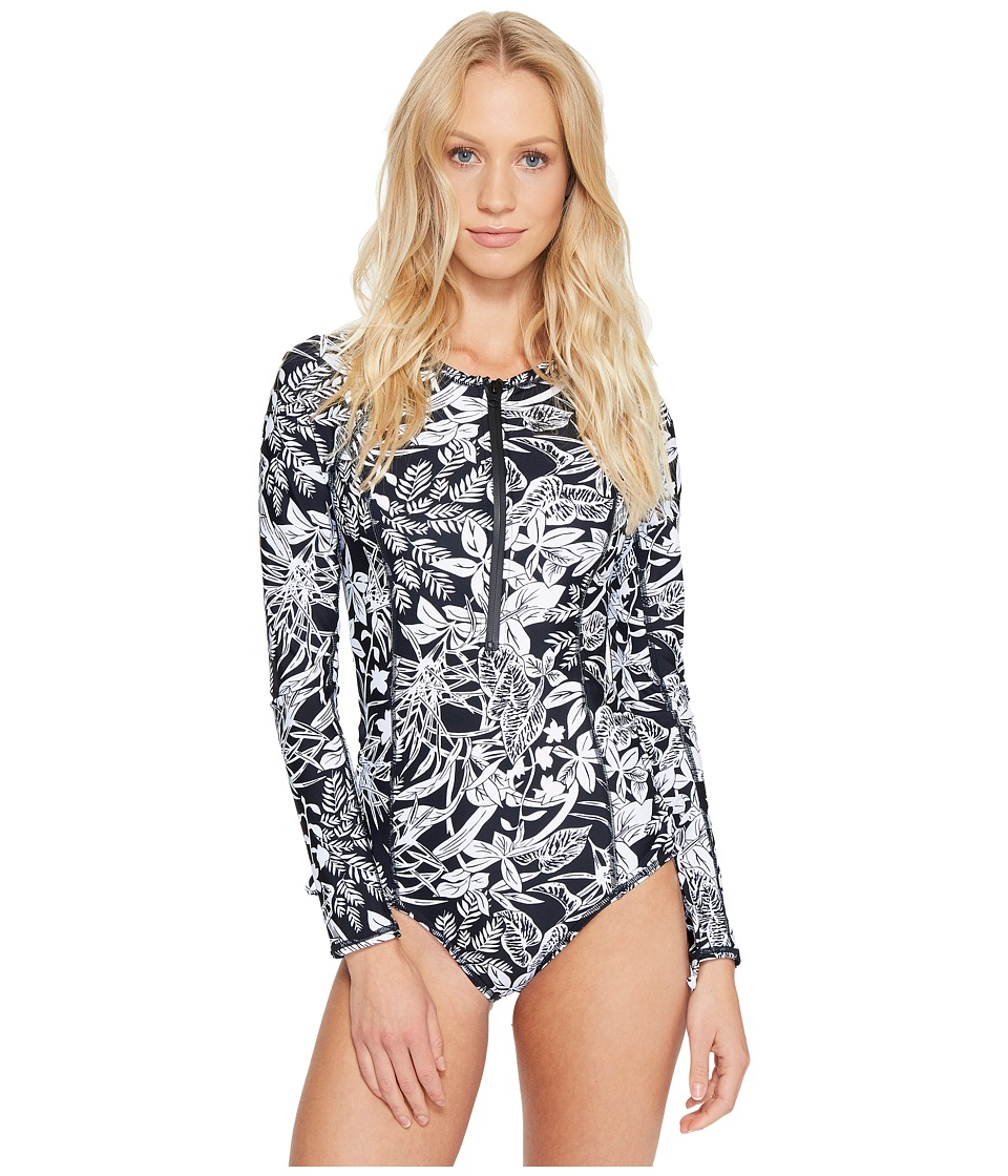 Volcom - Branch Out Bodysuit (Black) Women's Swimsuits One Piece