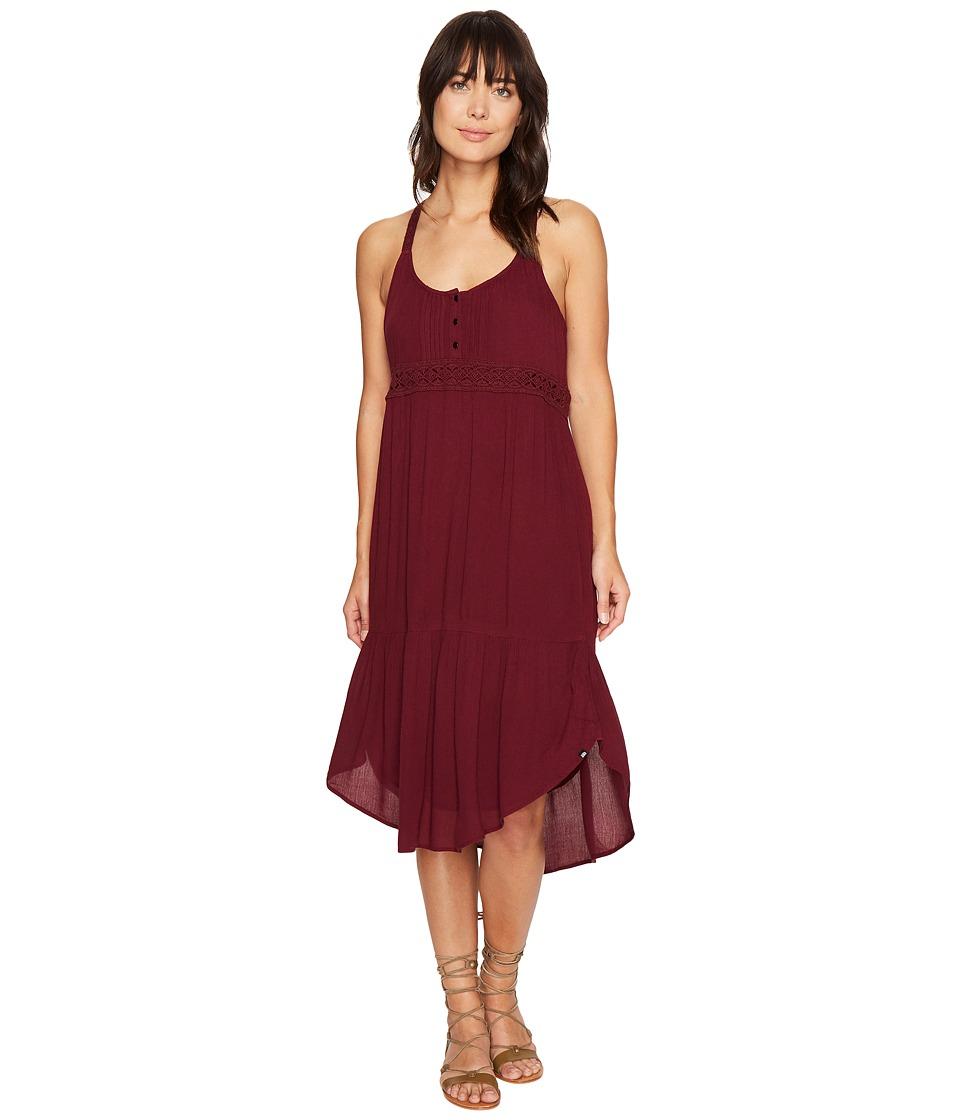 Volcom Summit Stone Dress (Merlot) Women