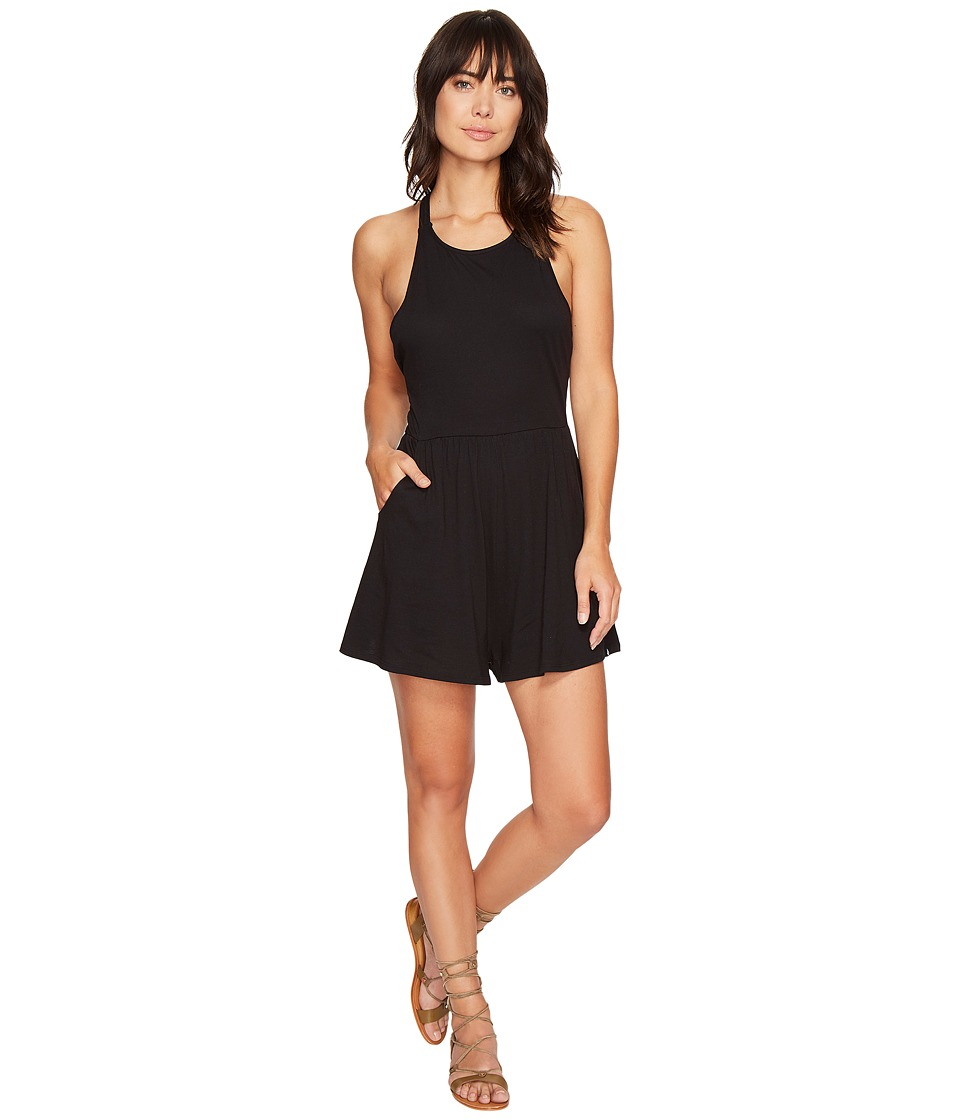 Volcom - Solo Trip Romper (Black) Women's Jumpsuit & Rompers One Piece