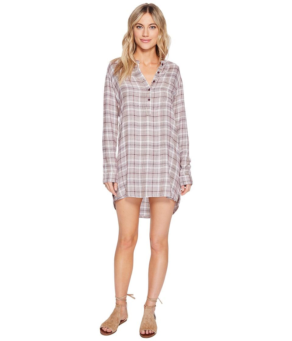 Volcom - Plaidazzle Dress (Merlot) Women's Dress