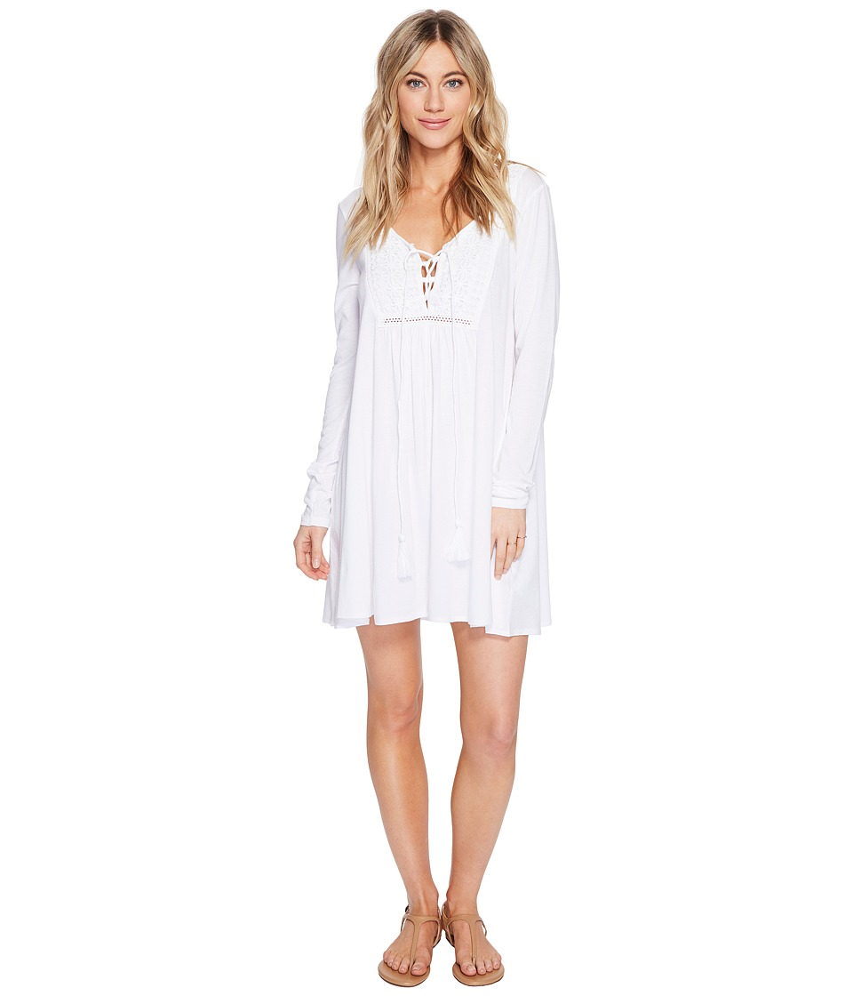 Volcom - Rockin Rad Dress (White) Women's Dress