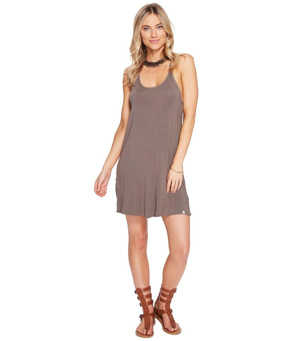 Volcom Lived in Tank Dress (Brown Khaki) Women