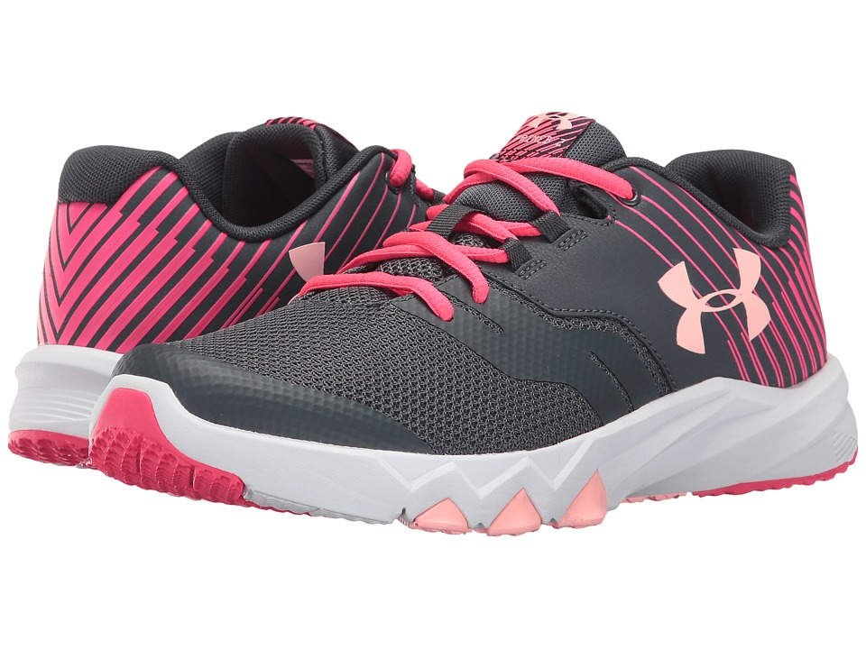 Under Armour Kids - UA GGS Primed 2 (Big Kid) (Stealth Grey/White/Pink Sands) Girls Shoes