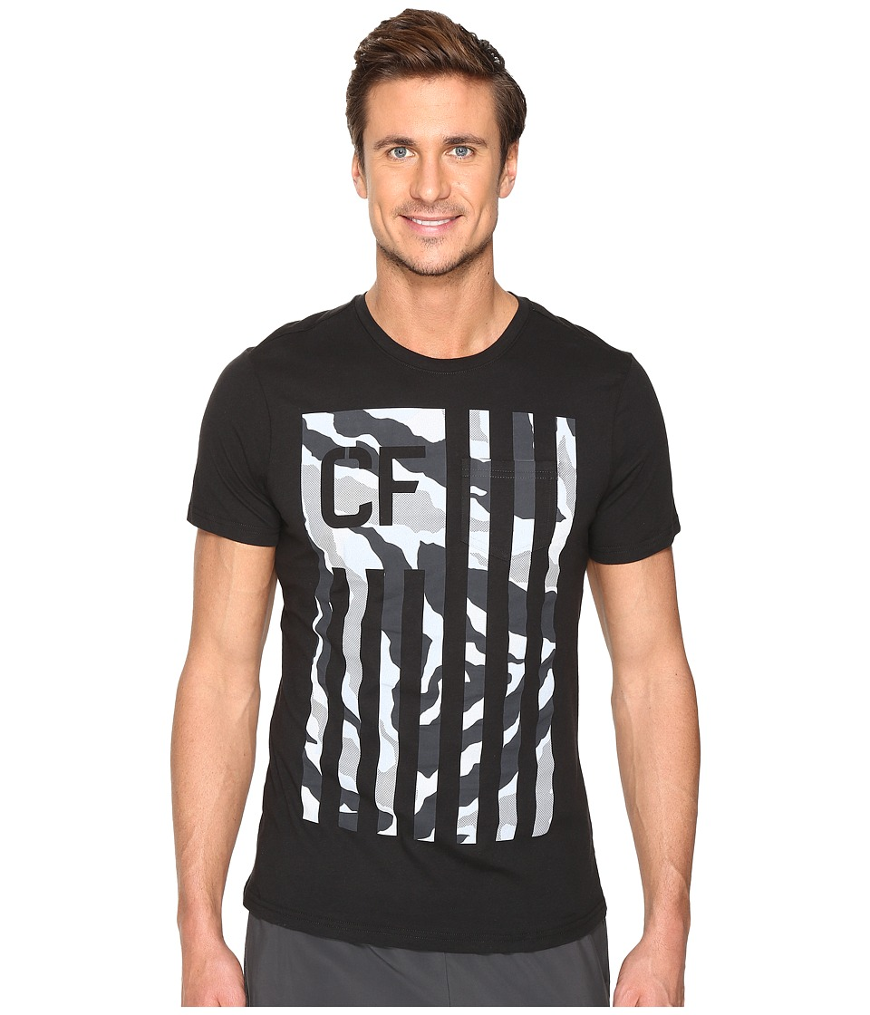 Reebok CrossFit Camo Flag Pocket Tee (Black) Men