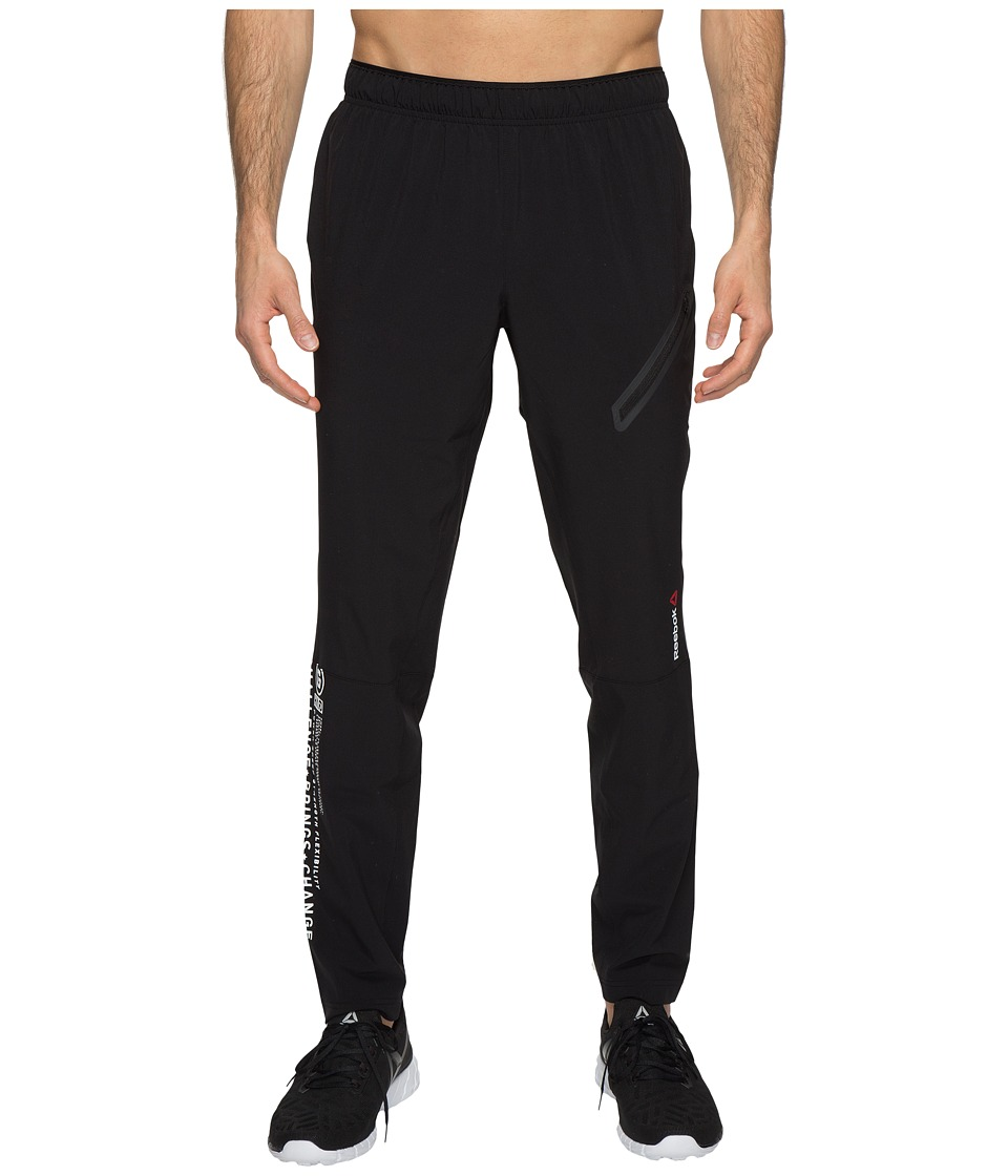 Reebok - One Series Woven Trackster Pants (Black) Men's Casual Pants