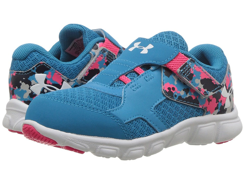 Under Armour Kids UA GINF Thrill RN AC (Infant/Toddler) (Blue Shift/Penta Pink/White) Girls Shoes