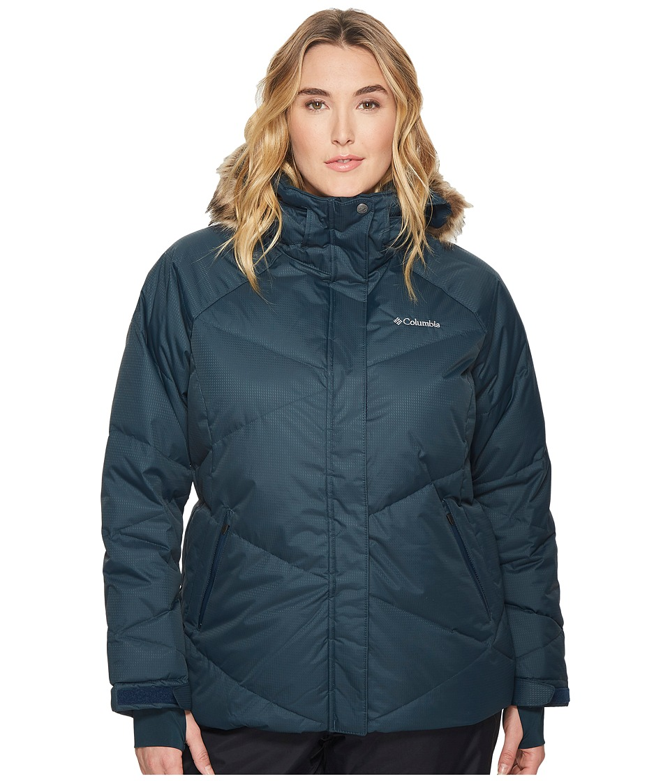 Columbia Plus Size Lay D Downtm Jacket (Night Shadow Dobby/Canyon Gold) Women