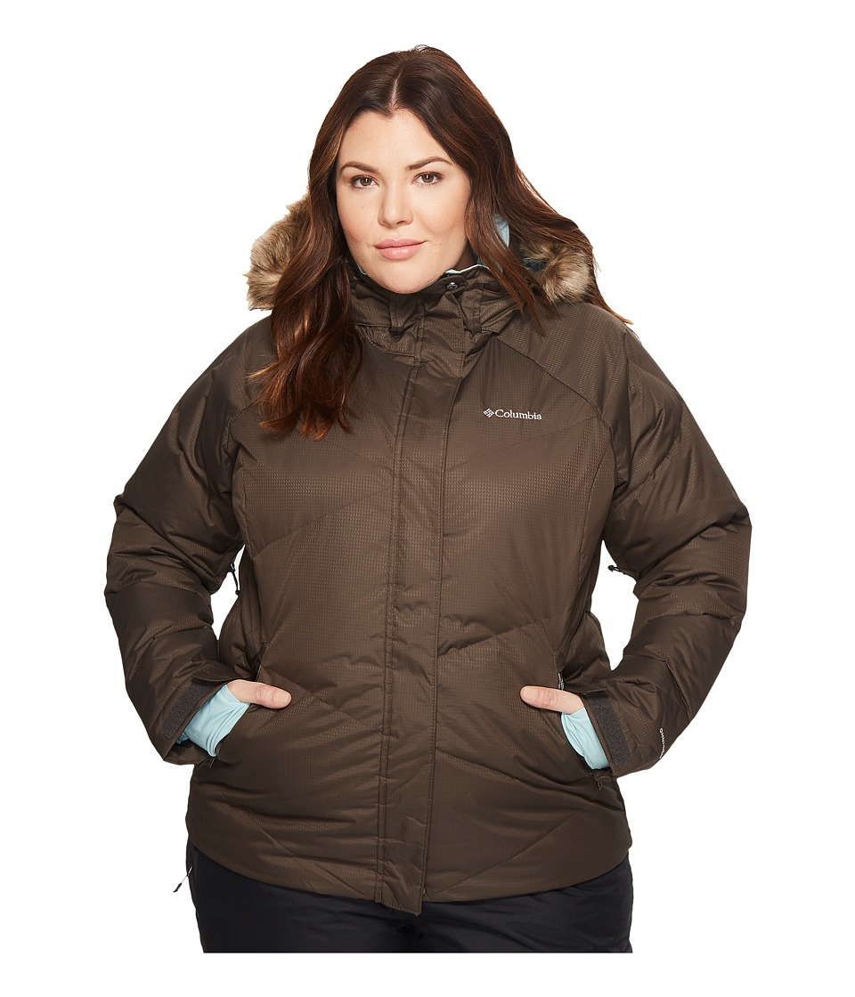 Columbia Plus Size Lay D Downtm Jacket (Buffalo Dobby/Aqua Haze) Women