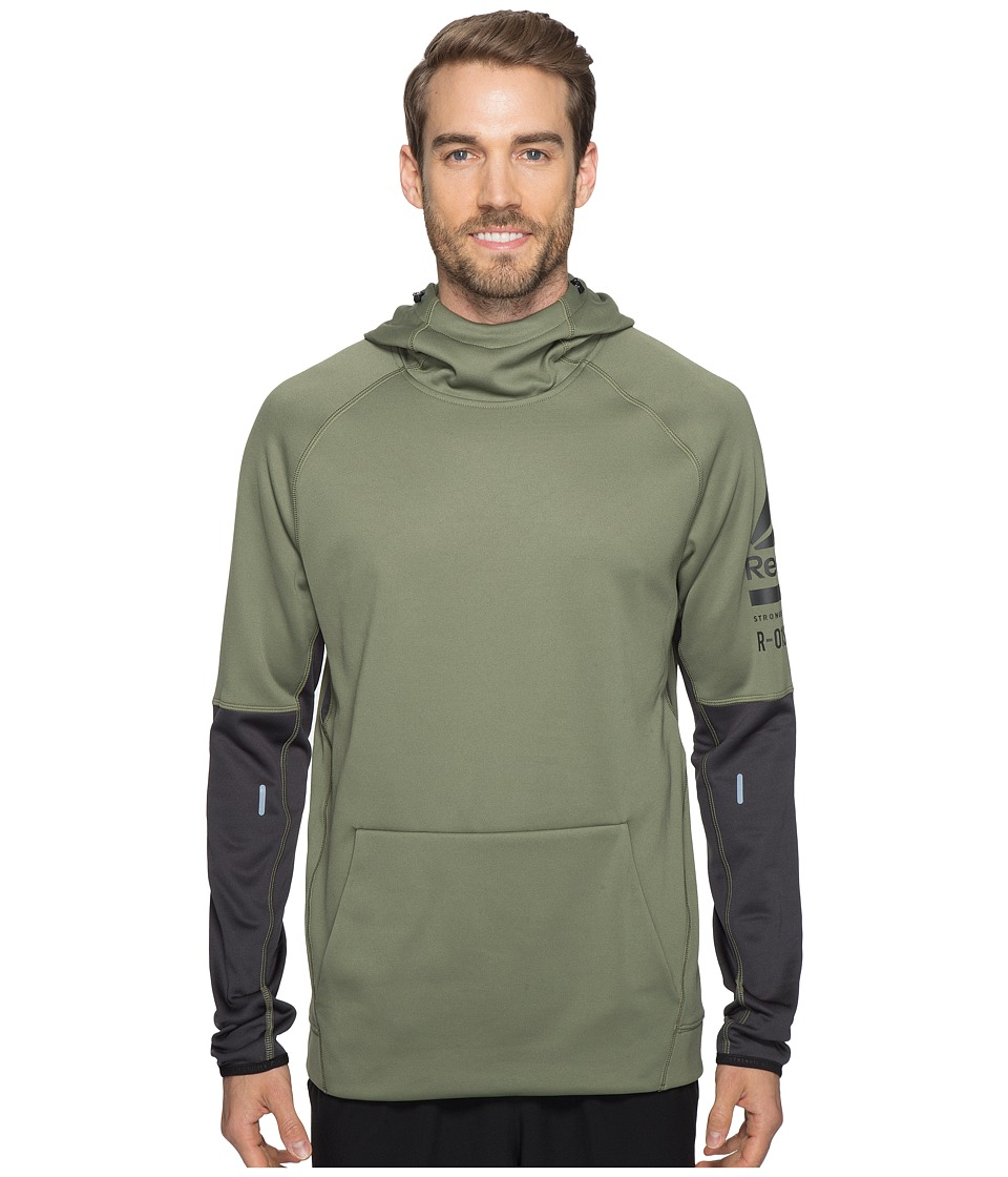Reebok - One Series Over the Head Hoodie (Green) Men's Sweatshirt