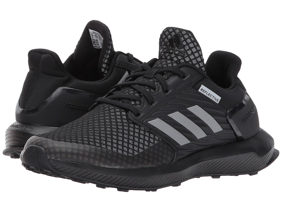 adidas Kids RapidaRun K (Little Kid/Big Kid) (Core Black) Kids Shoes