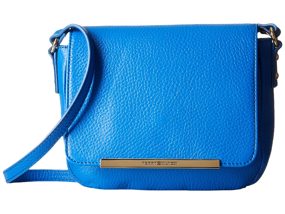Tommy Hilfiger - Jamie - Pebble Leather Flap Crossbody (Bright Midnight) Cross Body Handbags