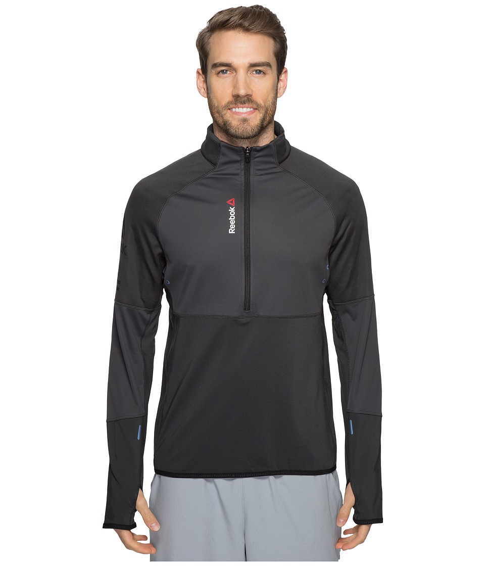 Reebok - One Series Hex Thermal 1/4 Zip Top (Grey) Men's Long Sleeve Pullover