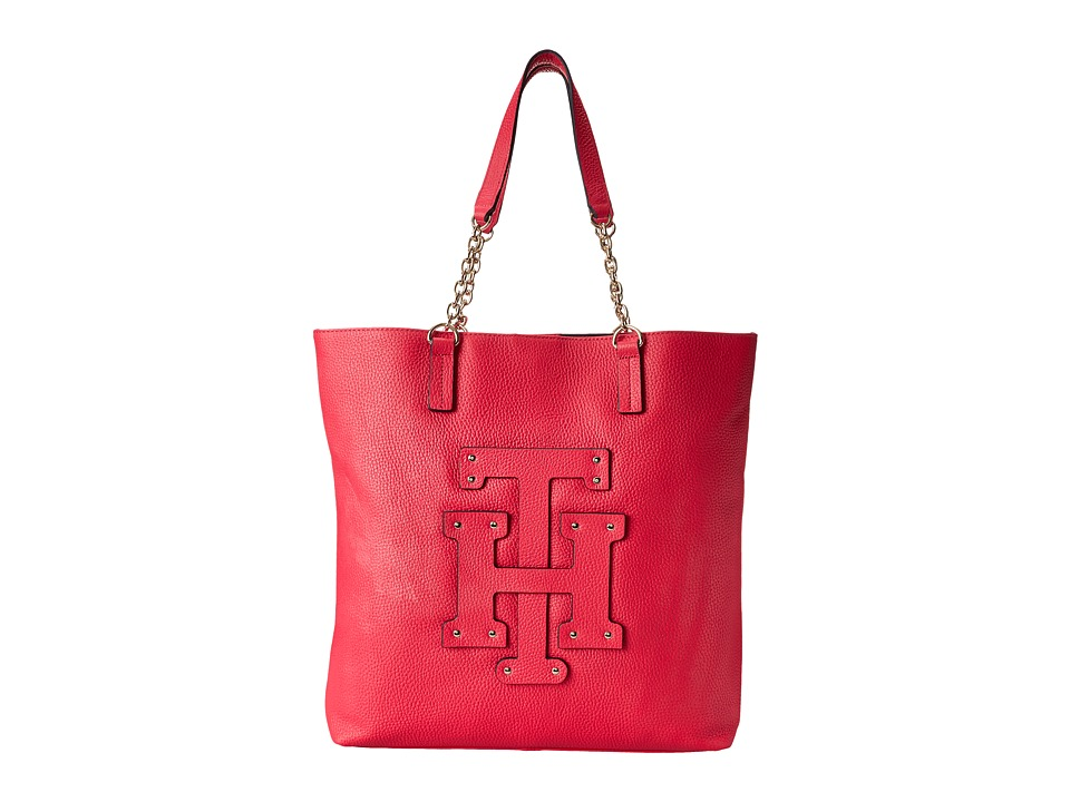 Tommy Hilfiger - Patch-Tote w/ Chain (Raspberry) Tote Handbags