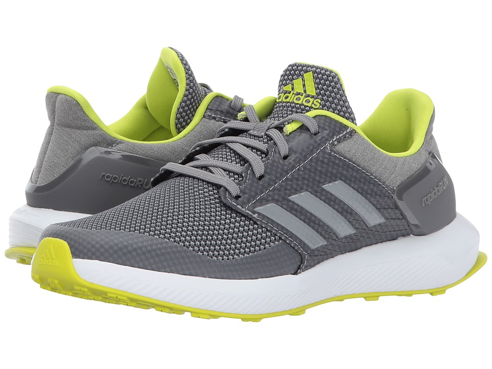 adidas Kids - RapidaRun K Wide (Little Kid/Big Kid) (Grey Three/Grey Four/Semi Solar Yellow) Boys Shoes