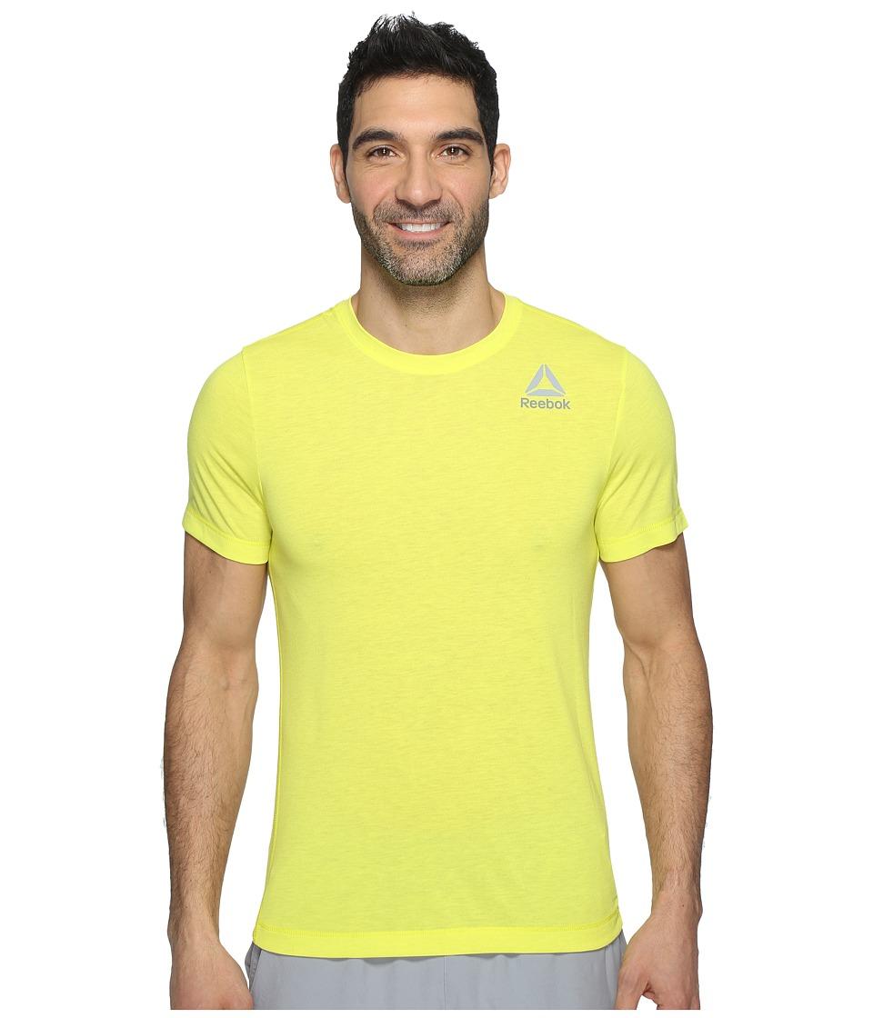 Reebok - Workout Ready Stacked Logo Supremium Tee (Yellow) Men's T Shirt