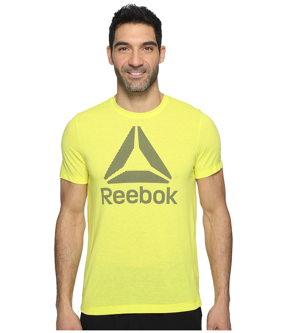 Reebok - Workout Ready Big Logo Supremium Tee (Yellow) Men's T Shirt