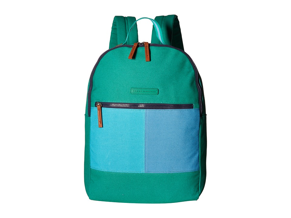 Tommy Hilfiger - Flag Color Block Backpack - Canvas (Kelly Green) Backpack Bags