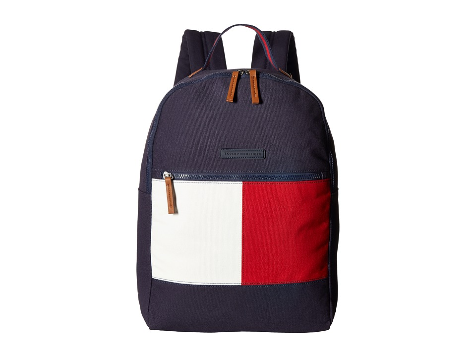 Tommy Hilfiger - Flag Color Block Backpack - Canvas (Tommy Navy) Backpack Bags