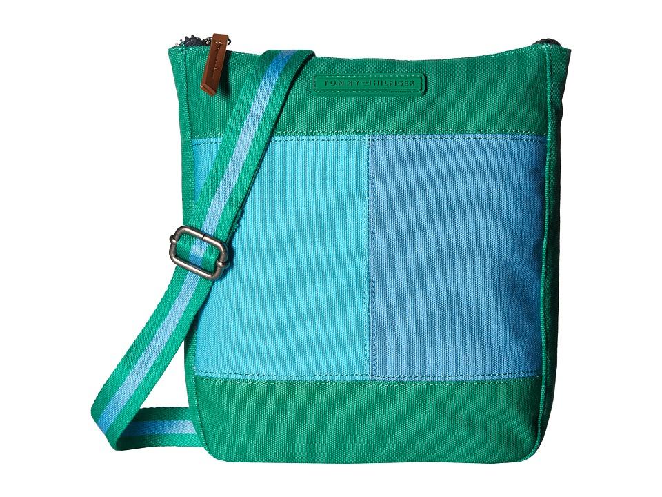 Tommy Hilfiger - Flag Color Block Flat Crossbody - Canvas (Kelly Green) Cross Body Handbags