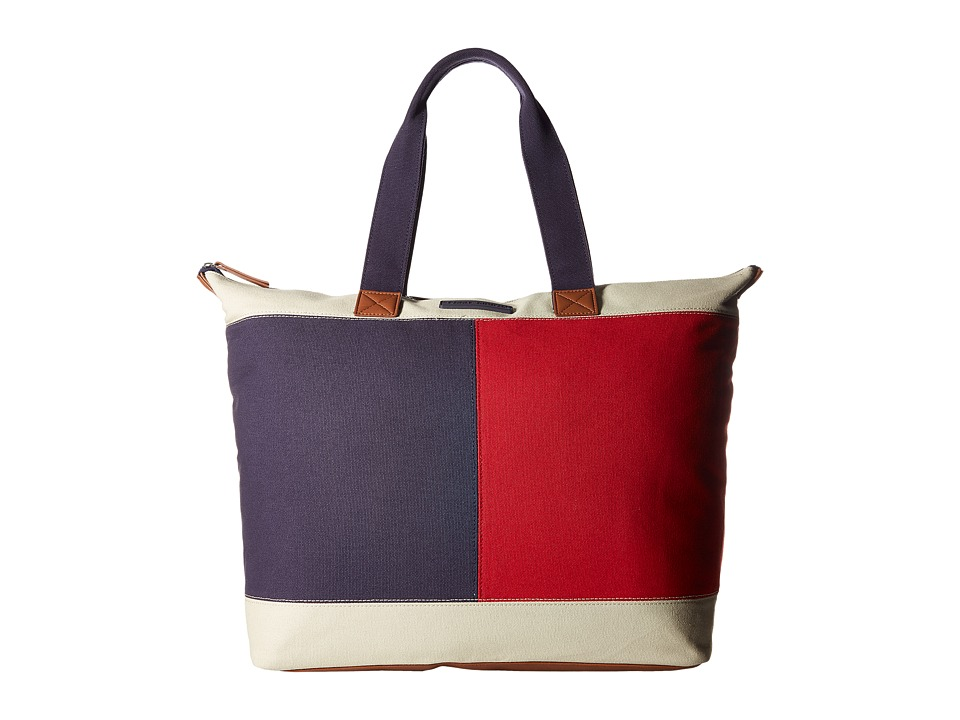 Tommy Hilfiger - Flag Color Block Top Zip Tote - Canvas (Parachute) Tote Handbags