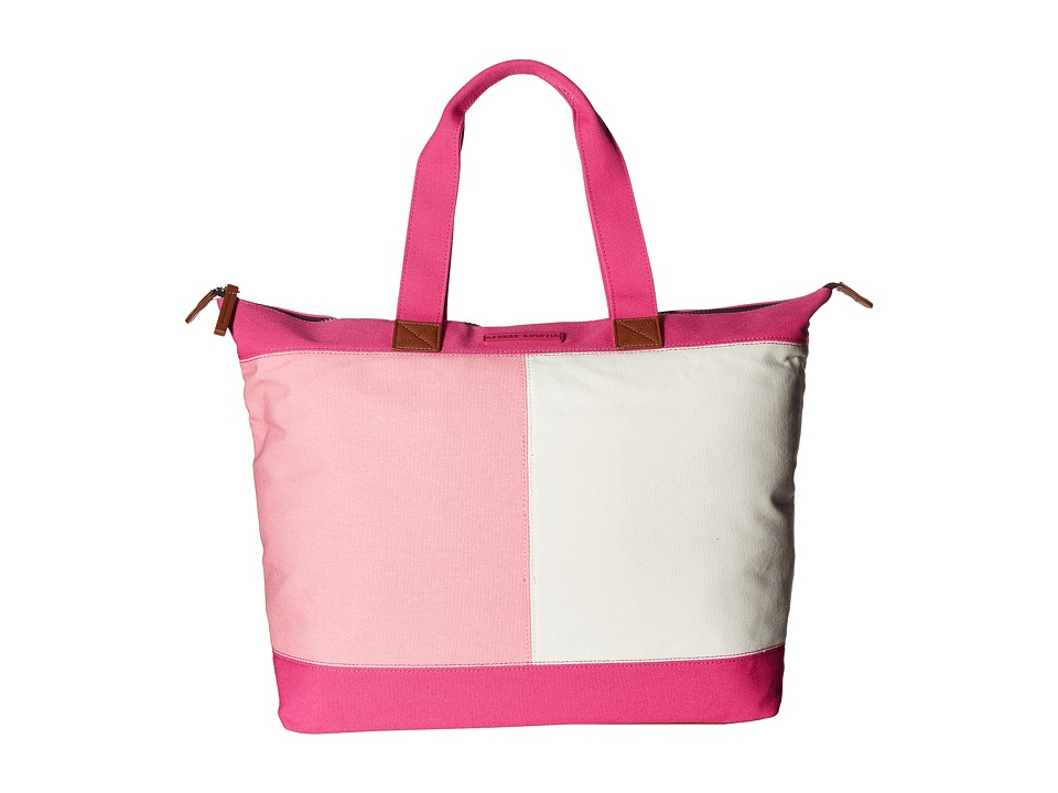 Tommy Hilfiger - Flag Color Block Top Zip Tote - Canvas (Fuchsia) Tote Handbags