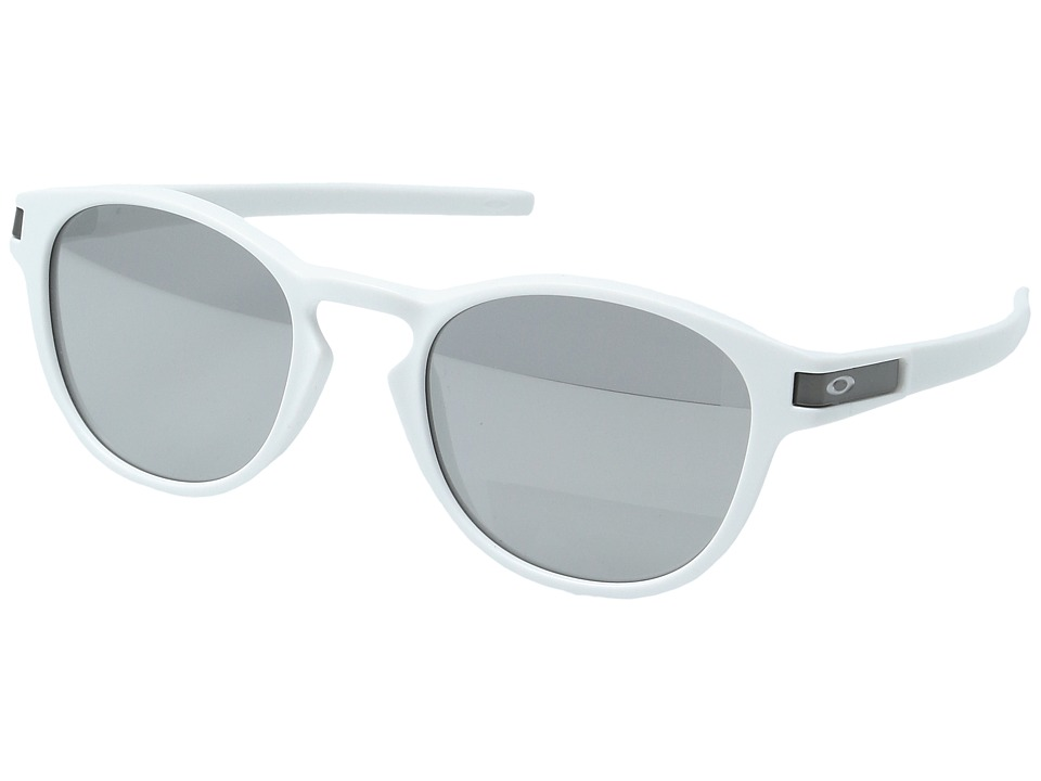 Oakley - Latch (Matte White w/ Chrome Iridium) Sport Sunglasses