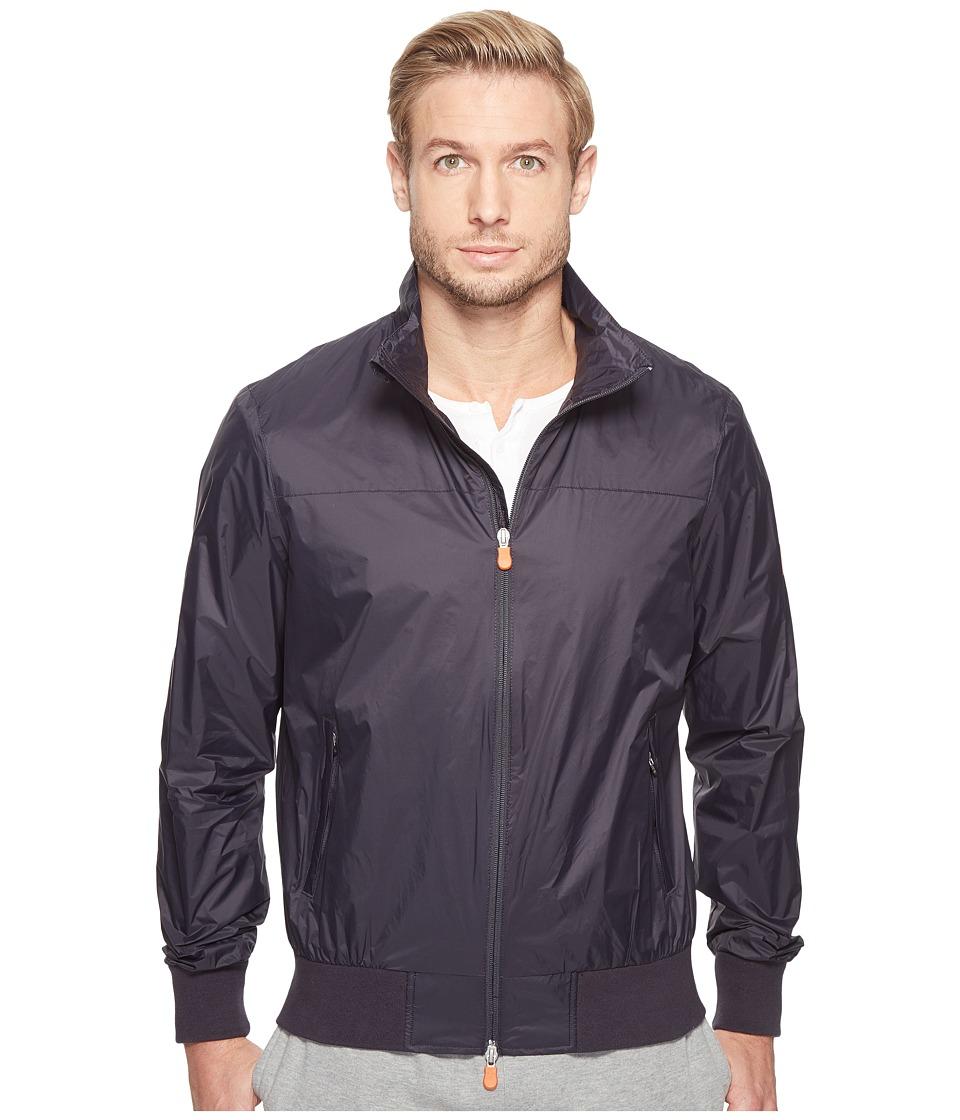 Save the Duck - Full Zip Lightweight Windbreaker (Blue Black) Men's Coat