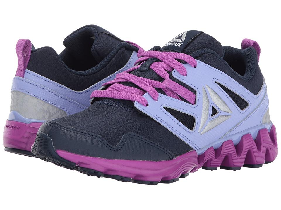 Reebok Kids - Zigkick 2K17 (Little Kid) (Collegiate Navy/Lilac Glow/Vicious Violet/White) Girls Shoes