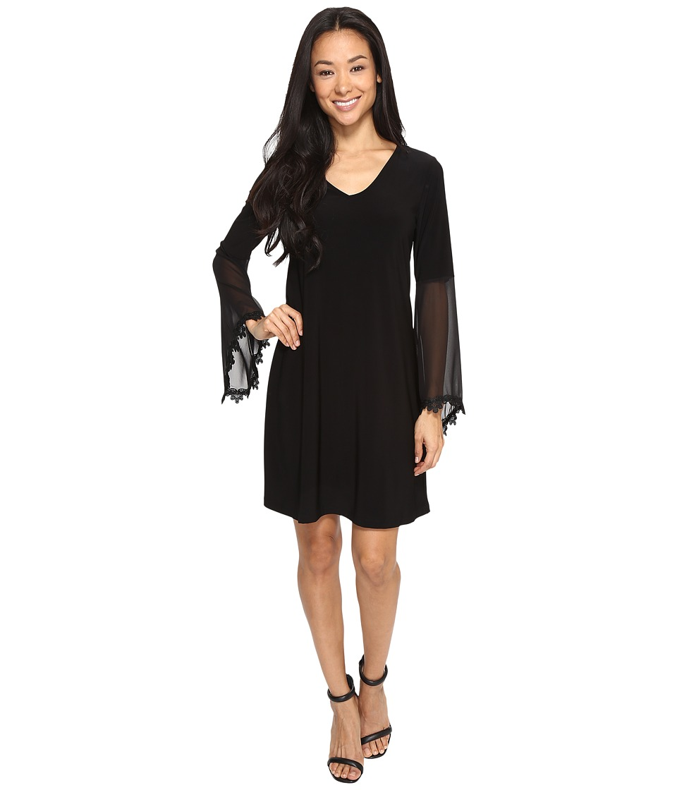Christin Michaels - Kiki Bell Sleeve Shift Dress (Black) Women's Dress