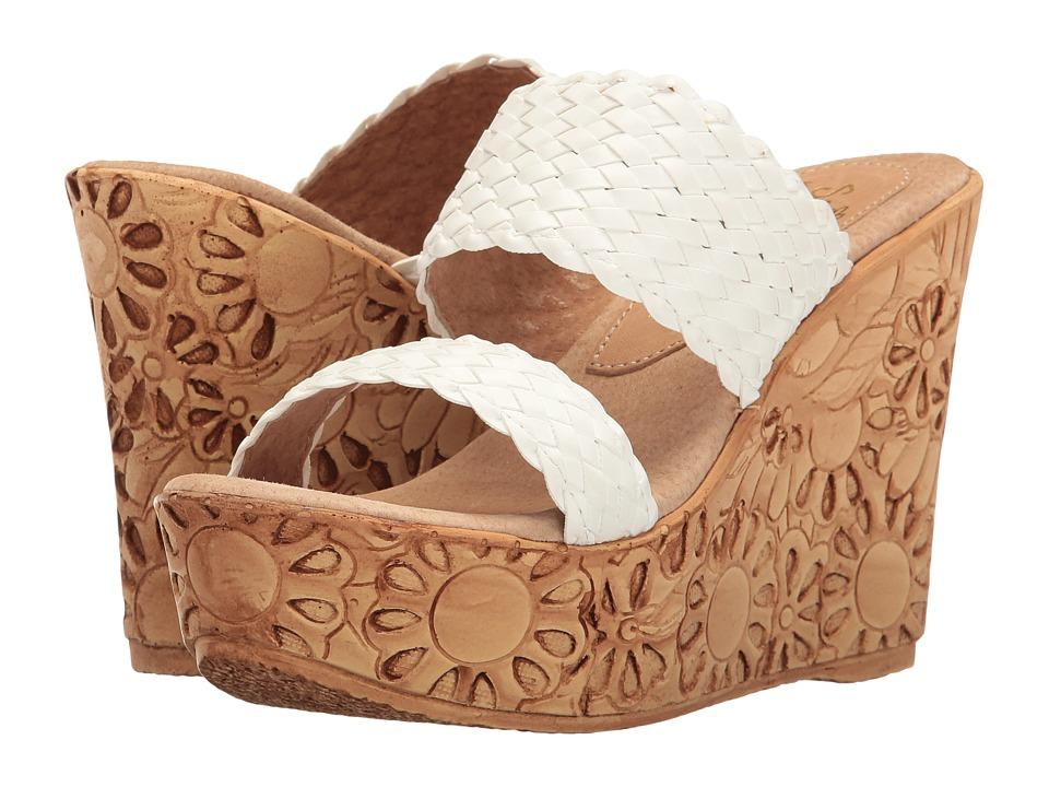 Sbicca - Halima (White) Women's Wedge Shoes