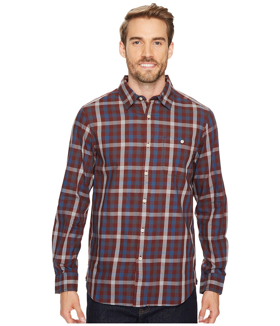 The North Face Long Sleeve Hayden Pass Shirt (Sequoia Red Plaid) Men