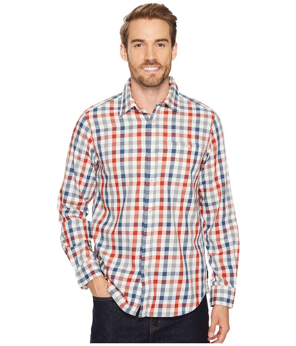 The North Face Long Sleeve Hayden Pass Shirt (Shady Blue Plaid) Men