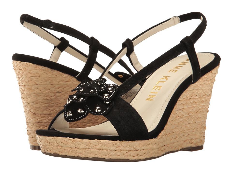 Anne Klein - Marigold (Black Suede) Women's Shoes