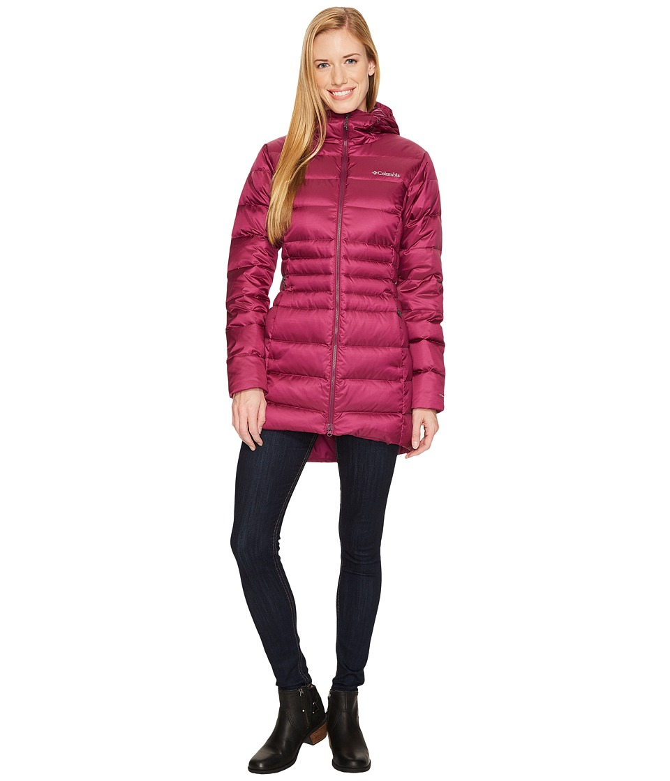 Columbia Hellfire Mid Down Hooded Jacket (Dark Raspberry) Women
