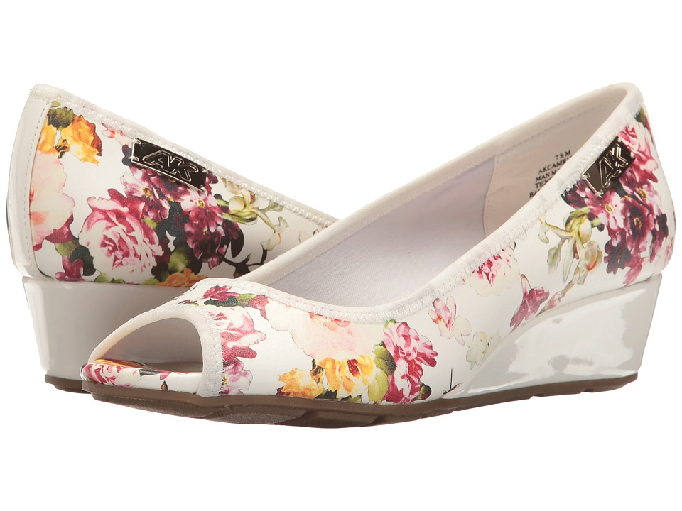 Anne Klein - Camrynne (White Multi (Fiji Floral)) Women's Wedge Shoes