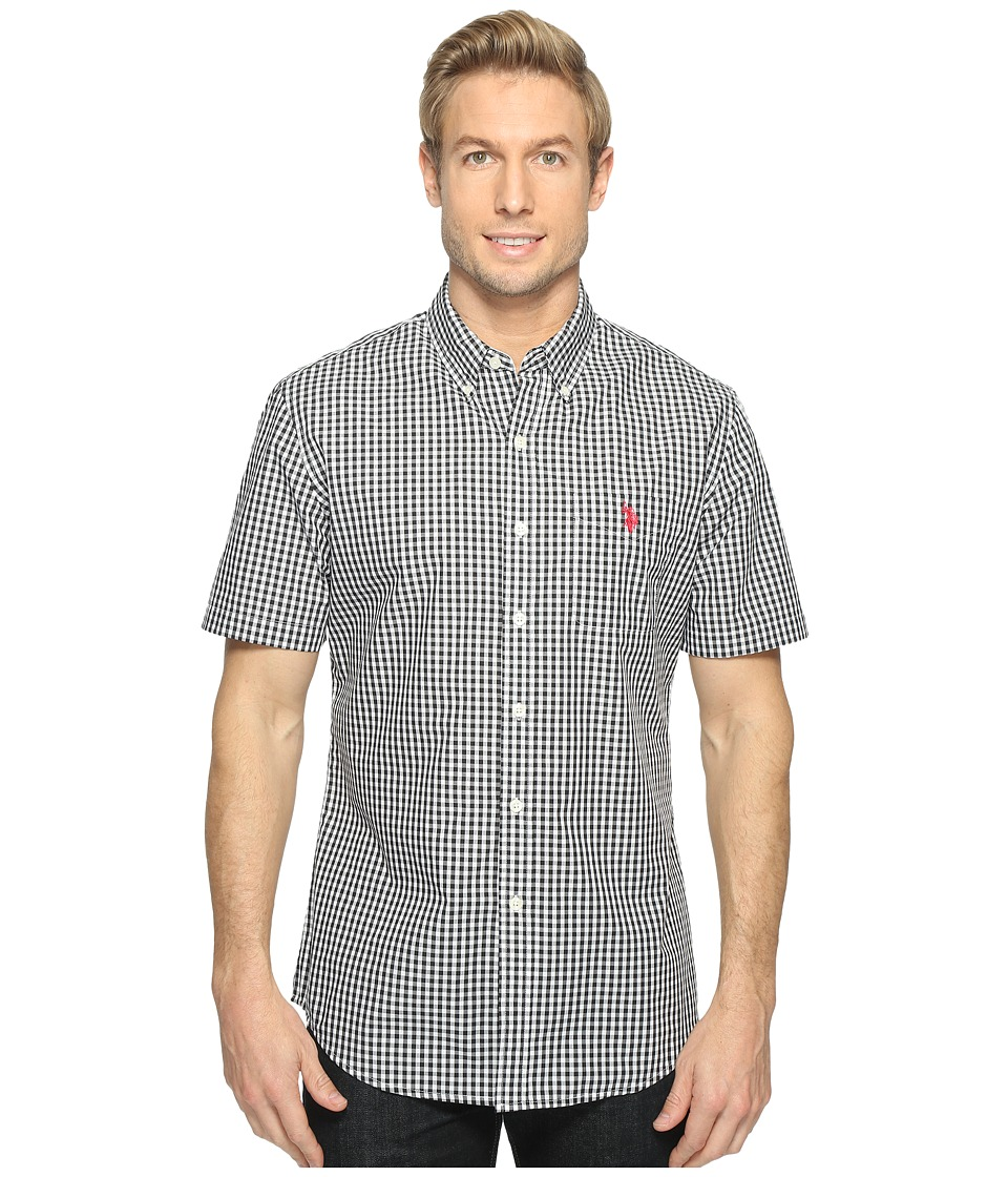 U.S. POLO ASSN. - Classic Fit Single Pocket Stripe, Plaid or Print Sport Shirt (Black) Men's T Shirt