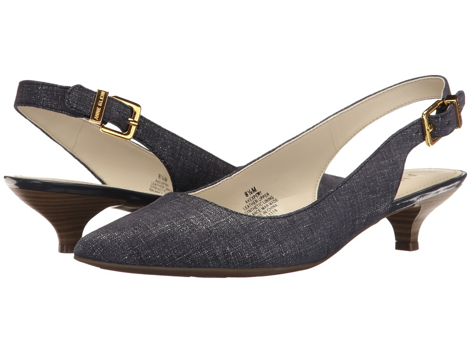 Anne Klein - Expert (Navy Leather (Jeans/Eclipse)) Women's 1-2 inch heel Shoes