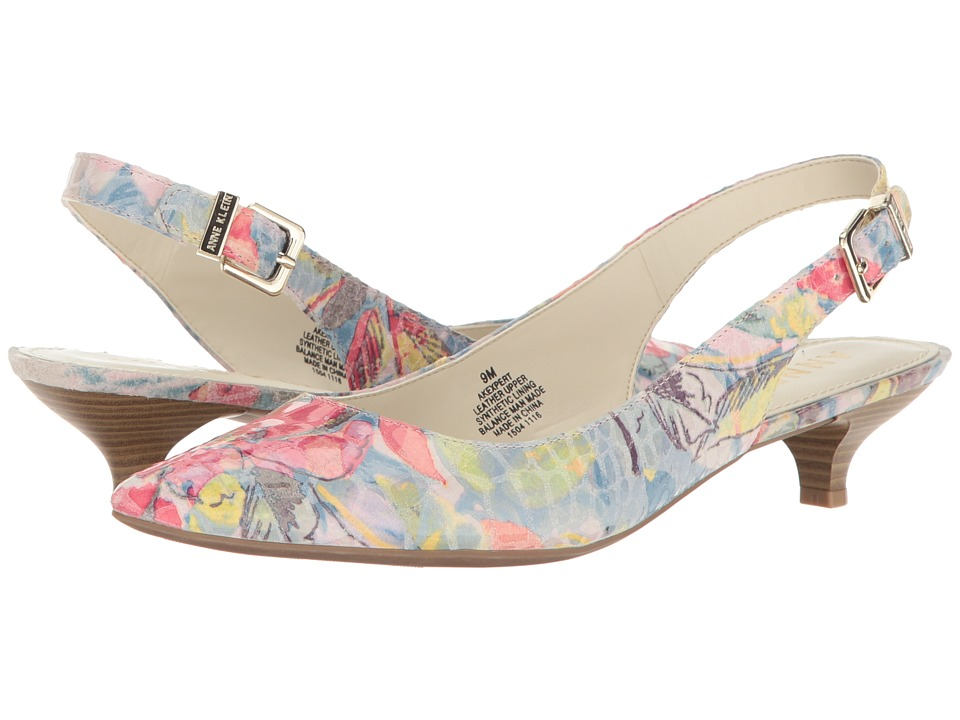 Anne Klein - Expert (Light Blue/Pink Multi Reptile (Bali Floral)) Women's 1-2 inch heel Shoes
