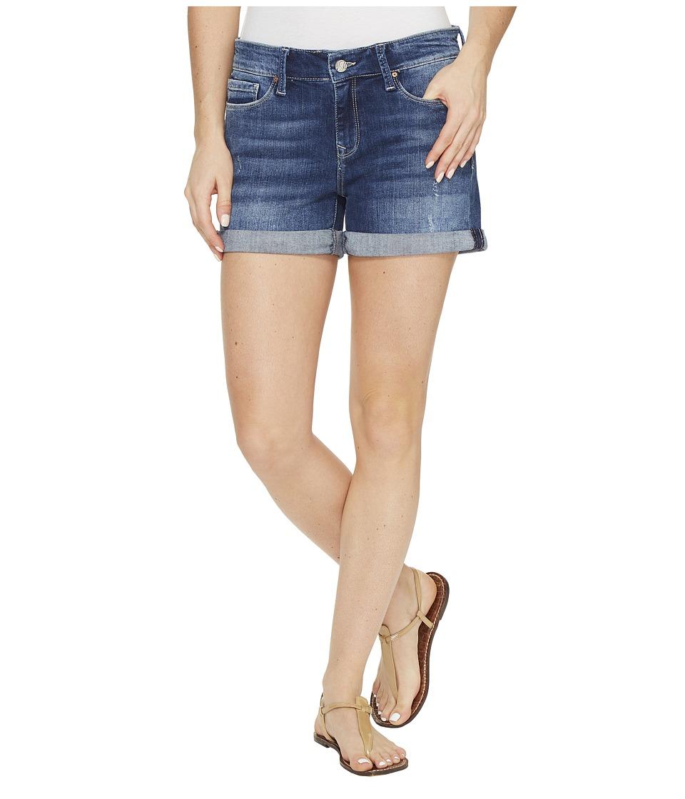 Mavi Jeans - Vanna Shorts in Mid Indigo Ripped Vintage (Mid Indigo Ripped Vintage) Women's Shorts