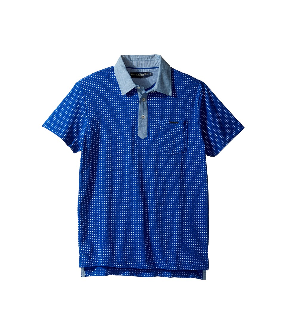 U.S. POLO ASSN. - Color Blocked Short Sleeve Classic Fit Polo Shirt (Blue Raft) Men's T Shirt