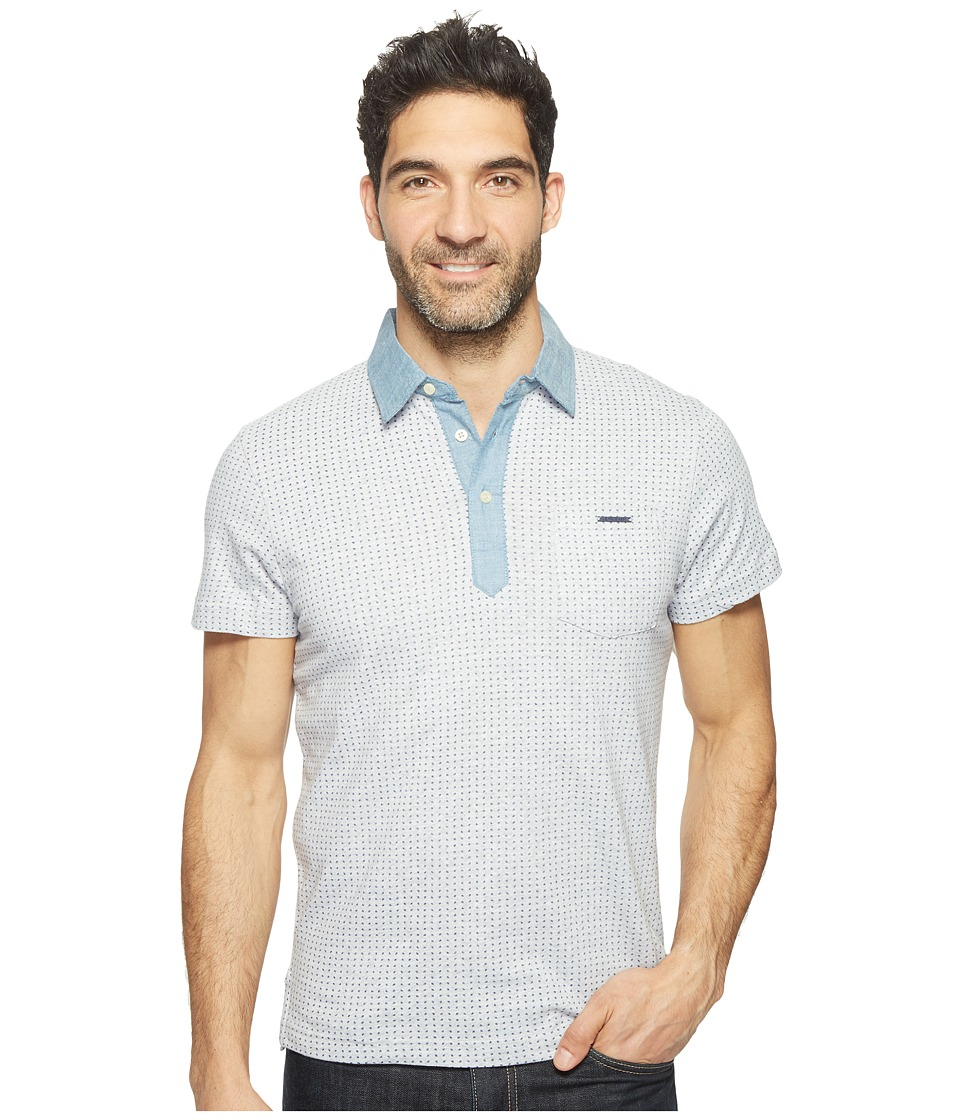 U.S. POLO ASSN. - Color Blocked Short Sleeve Classic Fit Polo Shirt (Light Heather Gray) Men's T Shirt