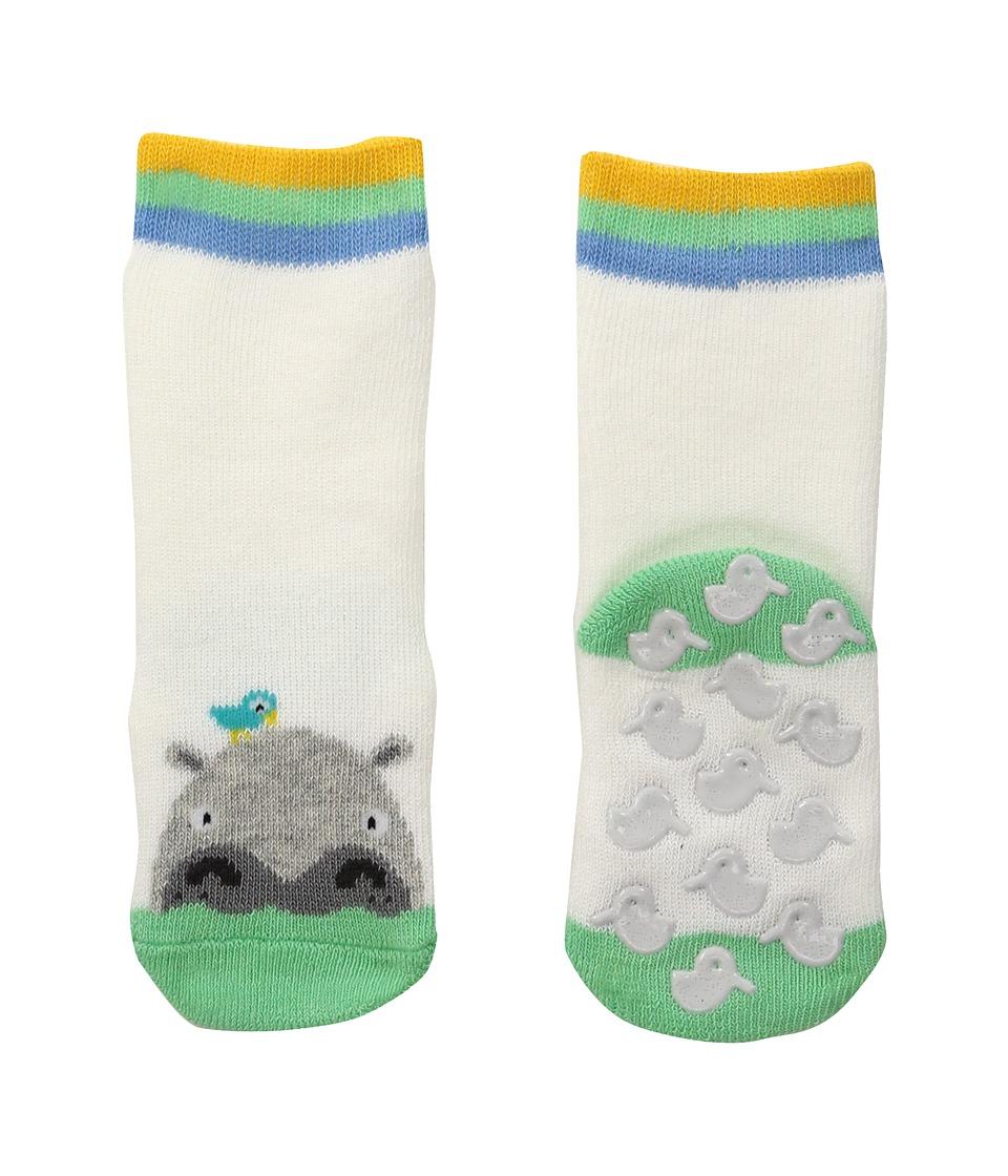 Falke - Hippo Catspads (Infant) (Off-White) Crew Cut Socks Shoes