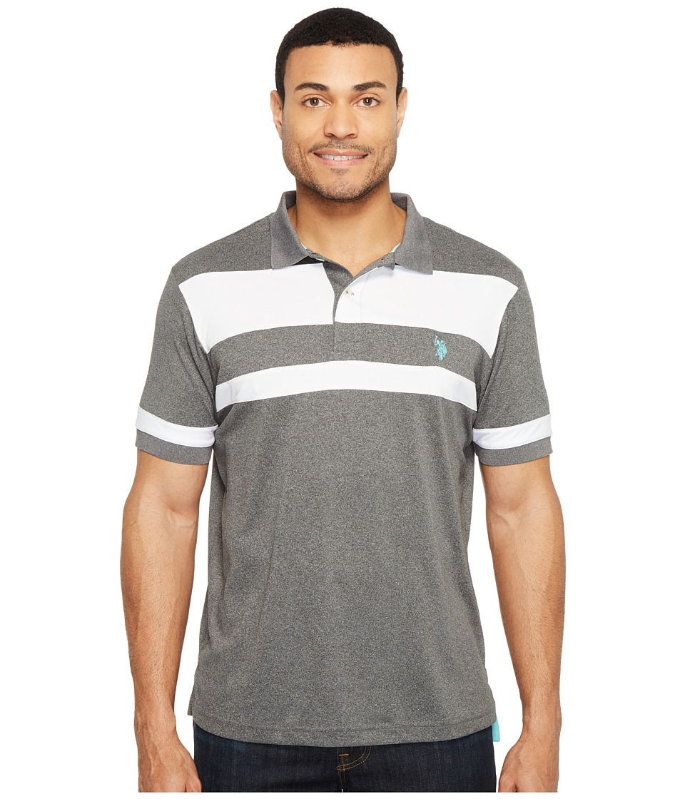 U.S. POLO ASSN. - Color Blocked Short Sleeve Classic Fit Polo Shirt (Black) Men's T Shirt
