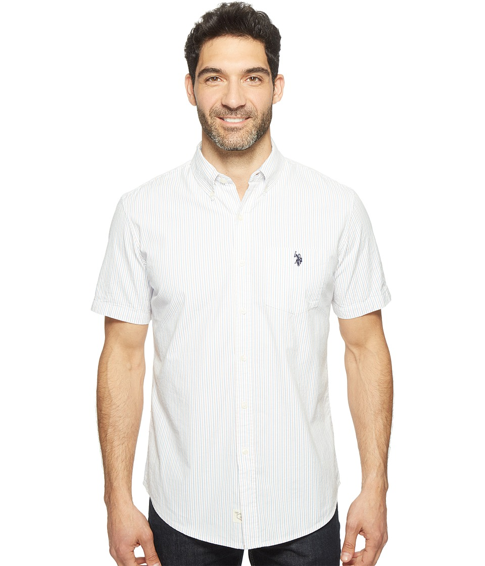 U.S. POLO ASSN. - Classic Fit Single Pocket Stripe, Plaid or Print Sport Shirt (Spring Lake) Men's T Shirt