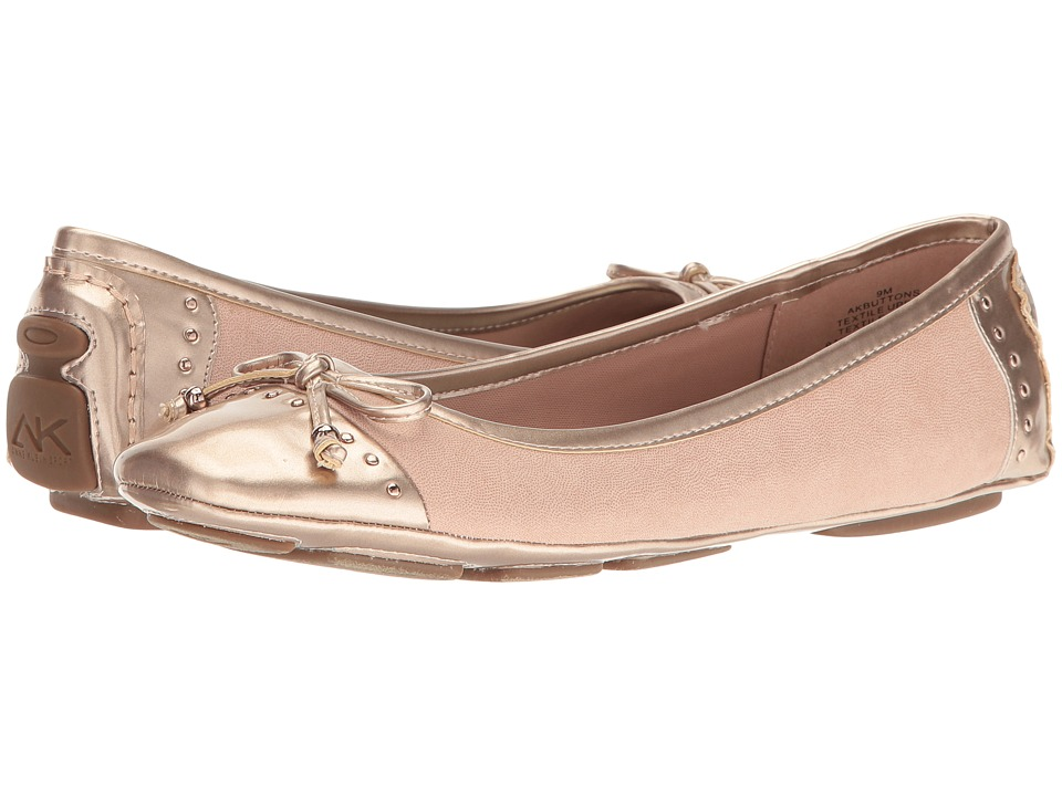 Anne Klein - Buttons (Light Pink/Metallic Pink Fabric) Women's Flat Shoes