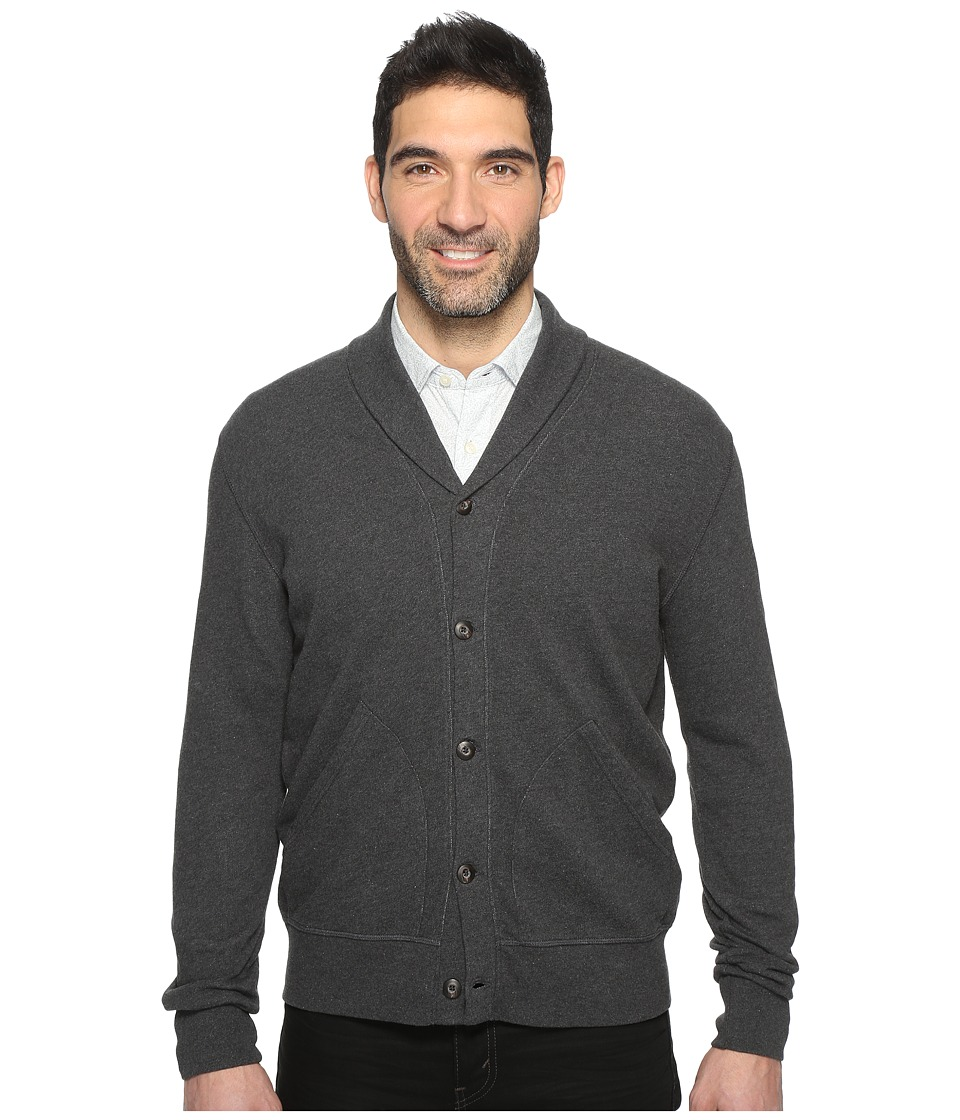 Dockers Premium - Shawl Cardigan (Charcoal Heather) Men's Sweater